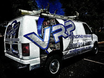 vinyl wrap advertising on commercial van